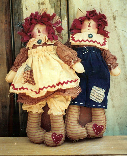 Muñecas de trapo country patrones - Imagui